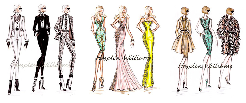 This is an interesting project: to dress inspired in Karl Largerfeld, Donatella Versace and Anna Wintour.