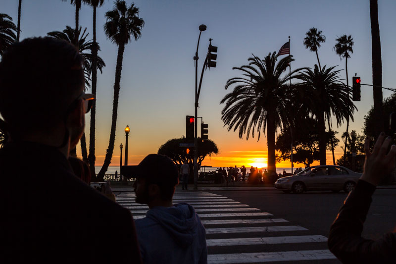 sunset in Santa Monica